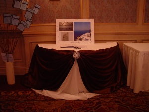 Guest Book signing table.