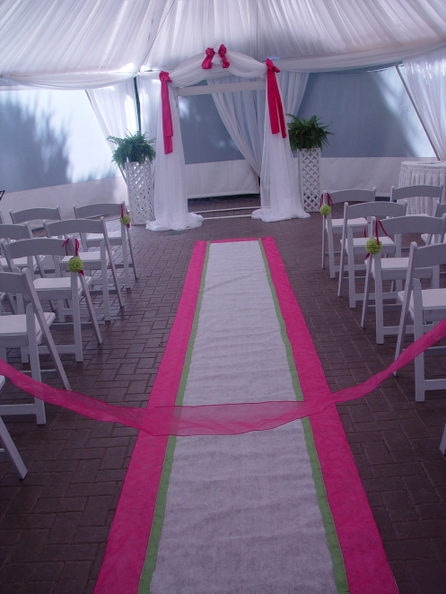 Colour-Customized Aisle Runner