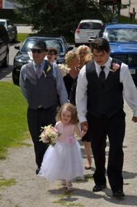 Brides' Family including her sweet daughter as the Flower Girl