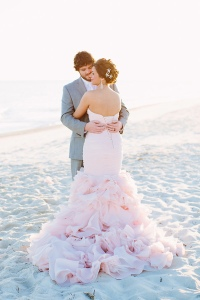 A stunning dress for a beach or church wedding.  Maggie Sottero.